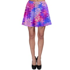 Pink And Purple Marble Waves Skater Skirts