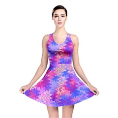 Pink and Purple Marble Waves Reversible Skater Dresses