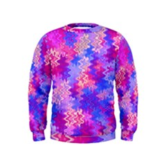 Pink and Purple Marble Waves Boys  Sweatshirts