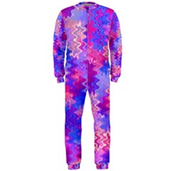 Pink and Purple Marble Waves OnePiece Jumpsuit (Men)
