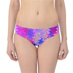 Pink and Purple Marble Waves Hipster Bikini Bottoms