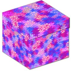 Pink and Purple Marble Waves Storage Stool 12