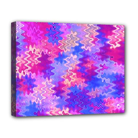 Pink And Purple Marble Waves Deluxe Canvas 20  X 16