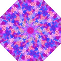 Pink and Purple Marble Waves Golf Umbrellas