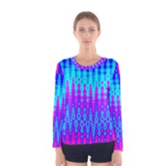 Melting Blues And Pinks Women s Long Sleeve T Shirts