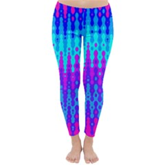 Melting Blues and Pinks Winter Leggings