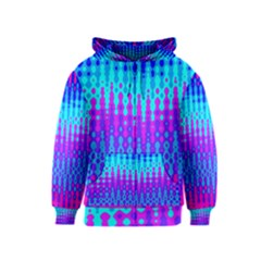 Melting Blues and Pinks Kids Zipper Hoodies