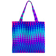 Melting Blues and Pinks Zipper Grocery Tote Bags