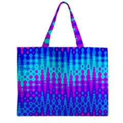 Melting Blues And Pinks Zipper Tiny Tote Bags
