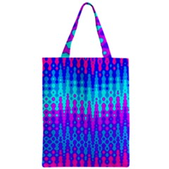 Melting Blues and Pinks Zipper Classic Tote Bags