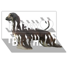 Afghan Hound Full Happy Birthday 3D Greeting Card (8x4)