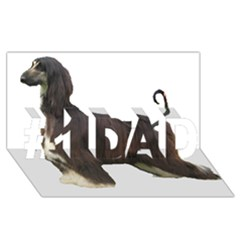 Afghan Hound Full #1 DAD 3D Greeting Card (8x4)