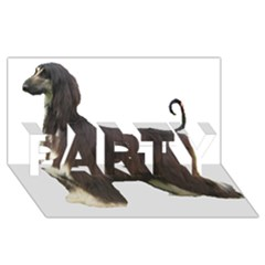 Afghan Hound Full PARTY 3D Greeting Card (8x4)