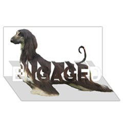 Afghan Hound Full ENGAGED 3D Greeting Card (8x4)