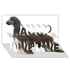 Afghan Hound Full Laugh Live Love 3D Greeting Card (8x4)