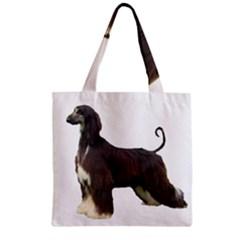 Afghan Hound Full Zipper Grocery Tote Bags