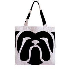 Bulldog Tribal Zipper Grocery Tote Bags