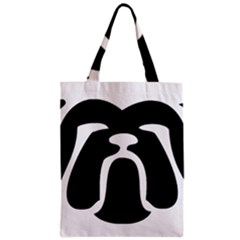 Bulldog Tribal Zipper Classic Tote Bags