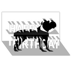 Cane Corso Silo Black Happy Birthday 3D Greeting Card (8x4)