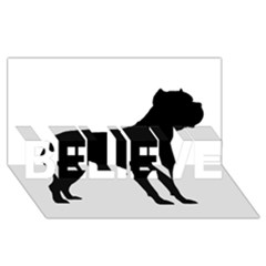 Cane Corso Silo Black BELIEVE 3D Greeting Card (8x4)