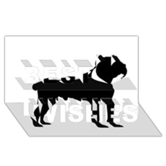 Cane Corso Silo Black Best Wish 3D Greeting Card (8x4)