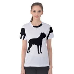 Cane Corso Silo Black Women s Cotton Tees