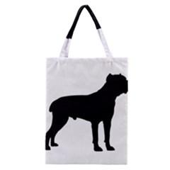 Cane Corso Silo Black Classic Tote Bags