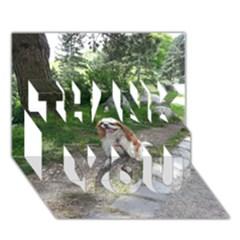 Cav Sitting THANK YOU 3D Greeting Card (7x5)