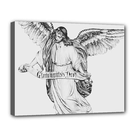 Angel Drawing Canvas 14  x 11