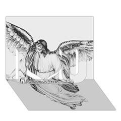 Angel Drawing I Love You 3D Greeting Card (7x5)