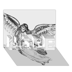 Angel Drawing HOPE 3D Greeting Card (7x5)