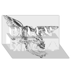 Angel Drawing Merry Xmas 3D Greeting Card (8x4)
