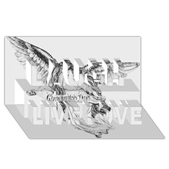 Angel Drawing Laugh Live Love 3D Greeting Card (8x4)