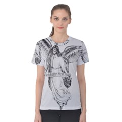 Angel Drawing Women s Cotton Tees