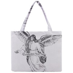 Angel Drawing Tiny Tote Bags