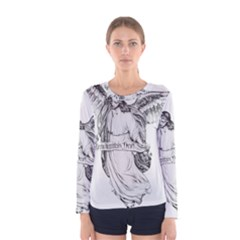 Angel Drawing Women s Long Sleeve T-shirts