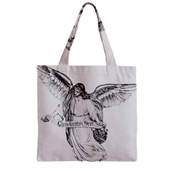 Angel Drawing Zipper Grocery Tote Bags