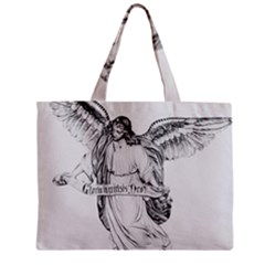 Angel Drawing Zipper Tiny Tote Bags