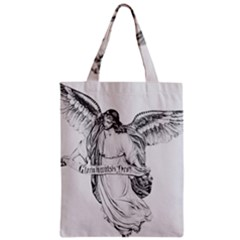 Angel Drawing Zipper Classic Tote Bags