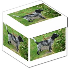 Black Roan English Cocker Spaniel Full 2 Storage Stool 12