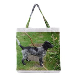 Black Roan English Cocker Spaniel Full 2 Grocery Tote Bags