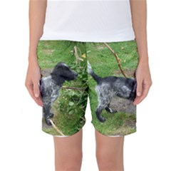 Black Roan English Cocker Spaniel Full 2 Women s Basketball Shorts