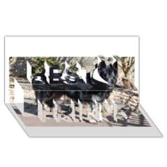 Black German Shepherd Full Best Friends 3D Greeting Card (8x4)