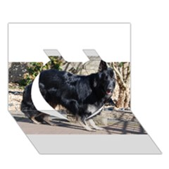 Black German Shepherd Full Heart 3D Greeting Card (7x5)