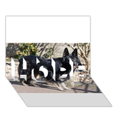 Black German Shepherd Full HOPE 3D Greeting Card (7x5)