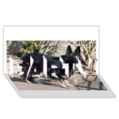 Black German Shepherd Full PARTY 3D Greeting Card (8x4)
