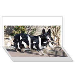Black German Shepherd Full SORRY 3D Greeting Card (8x4)