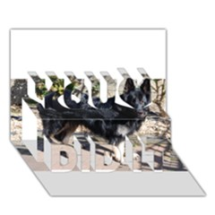 Black German Shepherd Full You Did It 3D Greeting Card (7x5)