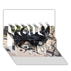 Black German Shepherd Full You Rock 3D Greeting Card (7x5)