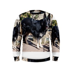 Black German Shepherd Full Boys  Sweatshirts